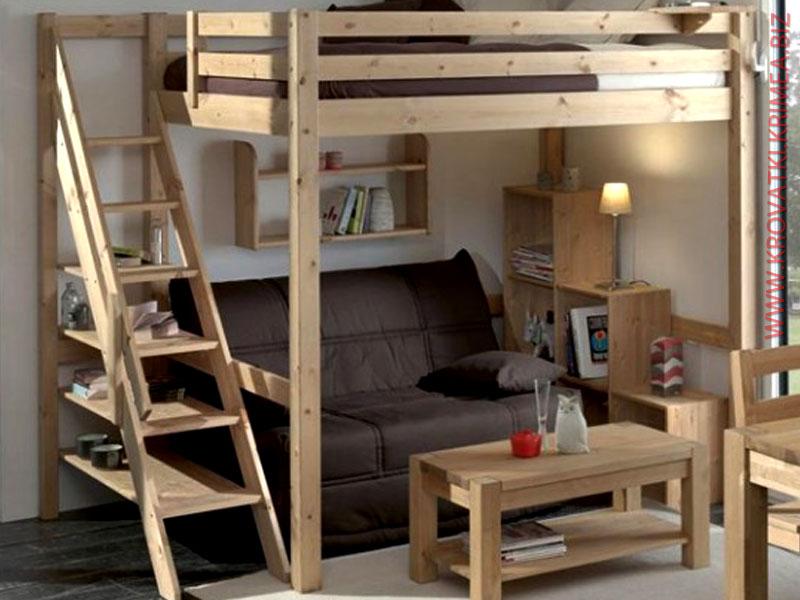 Кровать-чердак в детскую комнату