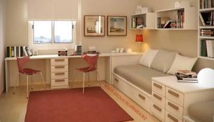 Интерьер комнаты подростка.