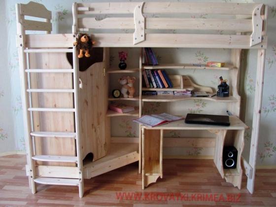Кровать чердак в детскую комнату!